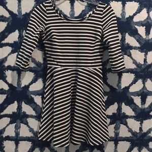 hollister striped mid sleeve dress